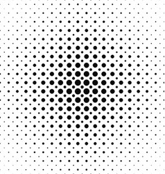 Black and white dot pattern design background vector