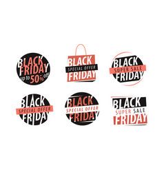 black friday banner sale closeout shopping vector image