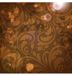 Brown Floral Patterned Background vector image