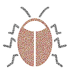 Bug composition of small circles vector