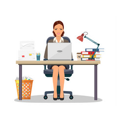 Business woman entrepreneur vector
