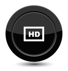 Button with HD vector image vector image