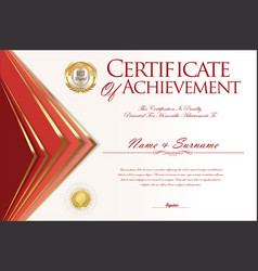 Certificate or diploma design template 3 vector