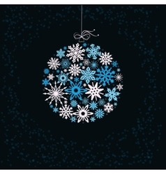 Christmas ball from colored snowflakes vector