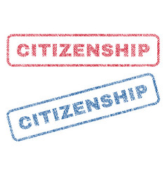Citizenship textile stamps vector