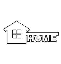 Concept house symbol vector