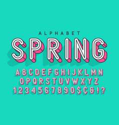 Condensed display font popart design alphabet vector