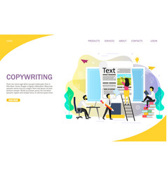 copywriting blogging landing page website vector image