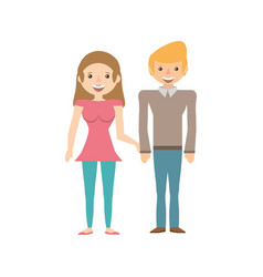 Couple together lovely image vector