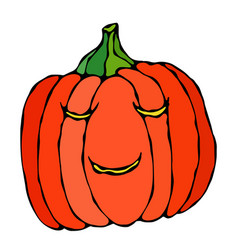 cute halloween pumpkins autumn or fall party vector image