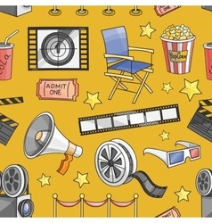 Doodle pattern cinema vector