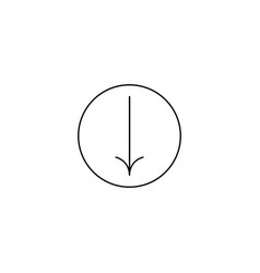 down arrow icon flat symbol simple and modern sign vector image