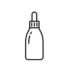 dropper bottle linear icon cosmetic jar vector image