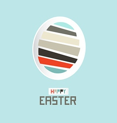 Easter Paper Cut Egg vector image