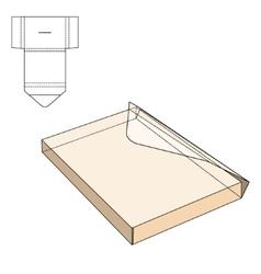 Envelope fold template vector