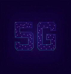 fifth generation wireless 5g vector image