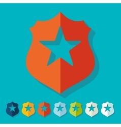 Flat design police badge vector