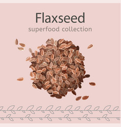 flaxseeds image vector image