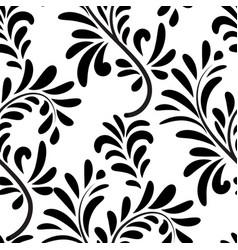 Floral seamless pattern ornamental leaves vector