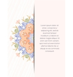 Flower decorative card vector