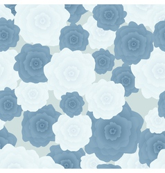 Flowers blue vector image