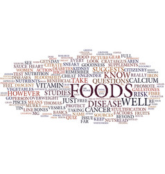 Foods that fight disease text background word vector
