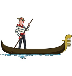 gondolier on a gondola vector image
