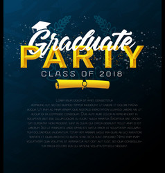 Graduation label template of announcement vector