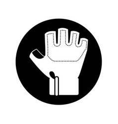 gym glove isolated icon vector image