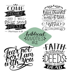 hand lettering collection number 2 with 4 bible vector image