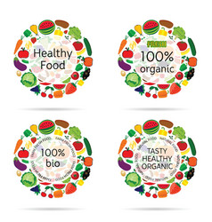 healthy food organic icon vector image