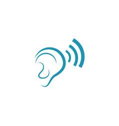 hearing logo template vector image