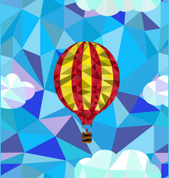 hot air balloon polygon pattern vector image