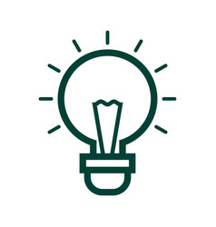 idea icon isolated on white background from vector image