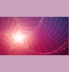 infinite star tunnel arrows glowing vector image