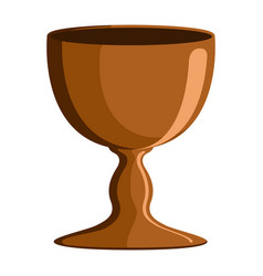 Isolated communion chalice vector