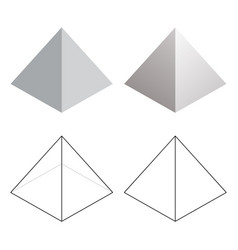 Isometric 3d pyramid triangle shapes vector