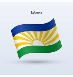 Lebowa flag waving form vector image