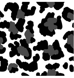 leopard spotted furry coat seamless pattern print vector image