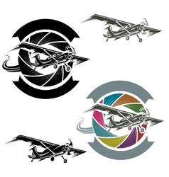logo with airplane vector image