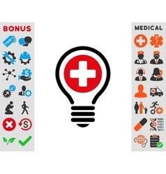 Medical Bulb Icon vector