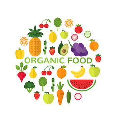 organic food template healthy meal concept vector image