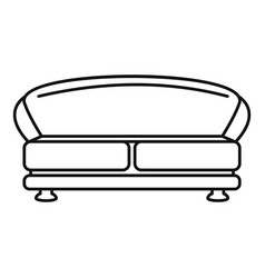 oval sofa icon outline style vector image