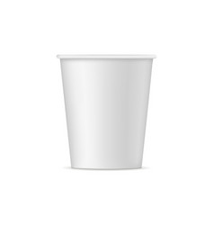 paper cup mockup - front view vector image