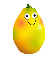 ripe mango fruit cartoon character vector image