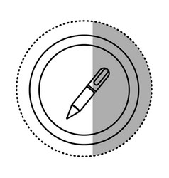 Round symbol metal classic pen icon vector