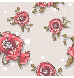 seamless texture poppies on a beige background vector image