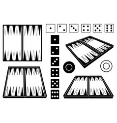 Set different backgammon boards vector