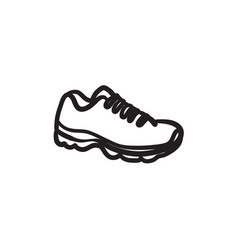 sneaker sketch icon vector image