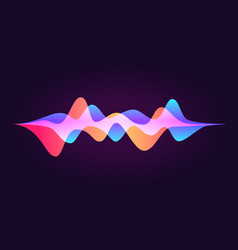 Sound wave abstract colored equalizer personal vector